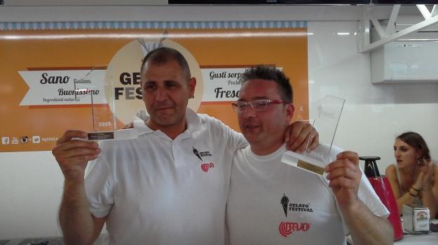 I due vincitori del gelato festival Torino